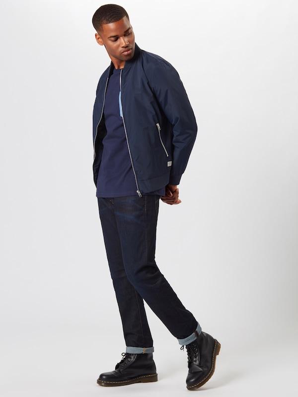 Lyleamp; Pocket' T shirt 'contrast En Scott BleuMarine UMVqzpS