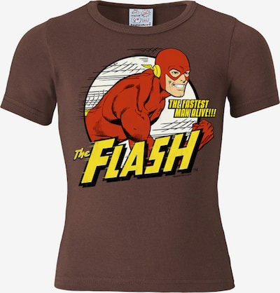 LOGOSHIRT T-Shirt Der Rote Blitz -DC -Flash -The Fastest Man Alive in braun / gelb / rot / weiß, Produktansicht