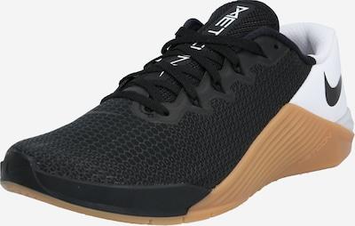 NIKE Sporta apavi 'NIKE METCON 5' pieejami brūns / melns / balts, Preces skats