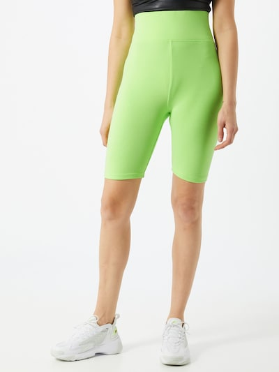 Urban Classics Legíny 'Ladies High Waist Cycle Shorts' - svítivě zelená, Model/ka