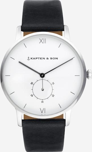 Kapten & Son Uhr 'Heritage Silver' in schwarz / silber, Produktansicht