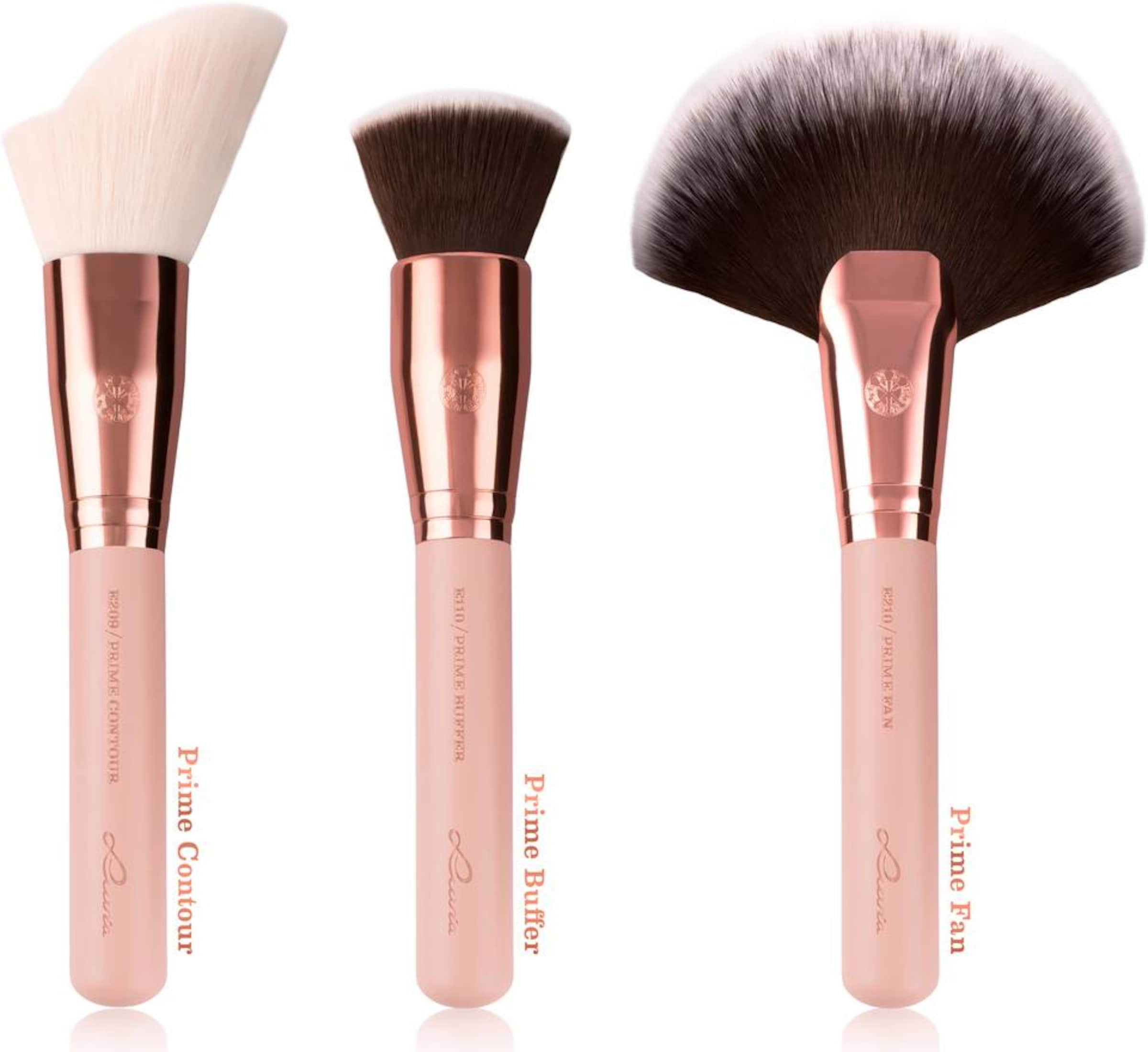 Make 'Essential Vintage' Golden Up mit Pinseltasche Brushes Rose Luvia Cosmetics Pinselset Veganes 5wxCqXX0R