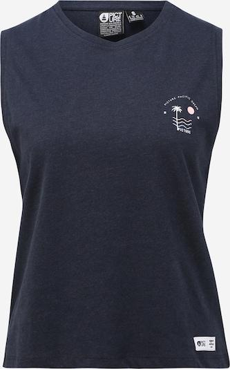 Picture Organic Clothing Haut de sport 'ILO TANK' en bleu foncé, Vue avec produit