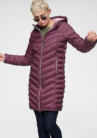 POLARINO Winter Coat in Purple, View model