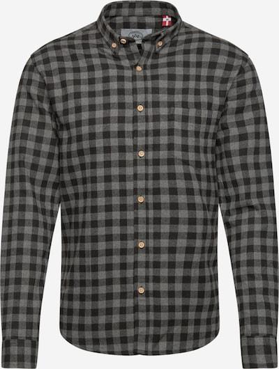 Kronstadt Košile 'Johan' - šedá / černá, Produkt