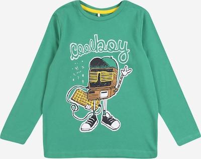 NAME IT Shirt 'Botta' in braun / hellgrün / schwarz / weiß, Produktansicht