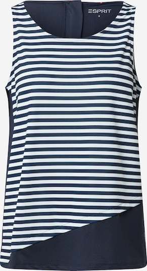 ESPRIT SPORTS Top in navy / weiß, Produktansicht