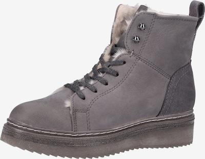 Venturini Milano Bottines à lacets en gris, Vue avec produit