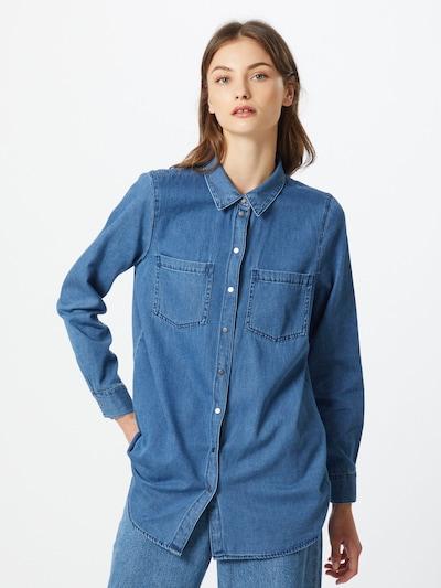 VERO MODA Blouse 'MILA' in Blue denim, View model
