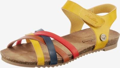 MUSTANG Sandale in gelb, Produktansicht