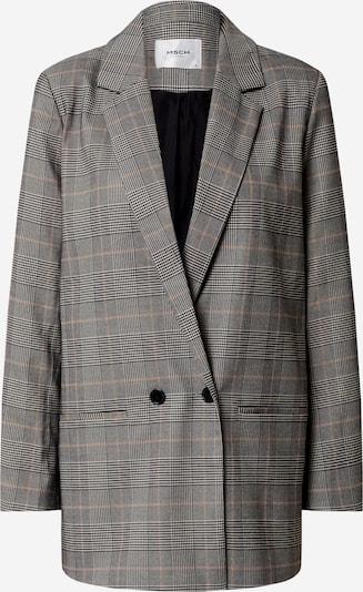 MOSS COPENHAGEN Blazer 'Vilna' en gris clair / gris chiné / orange pastel / noir / blanc, Vue avec produit