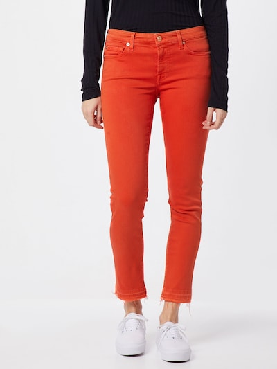 7 for all mankind Jeans 'PYPER CROP UNROLLED SLIM ILLUSION' in rot: Frontalansicht