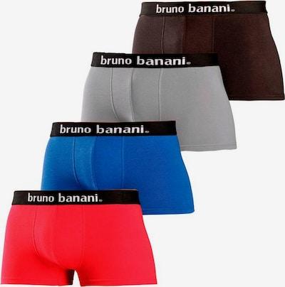 BRUNO BANANI Boxer in navy / grau / rot / schwarz, Produktansicht