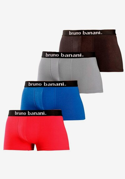 BRUNO BANANI Trunk in blau / grau / rot / schwarz, Modelansicht