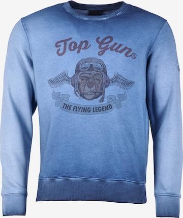 TOP GUN Sweatshirt 'Smoking Monkey' in Blau