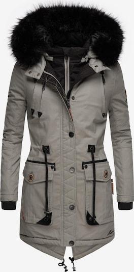 MARIKOO Wintermantel ' Knutschkugel ' in grau, Produktansicht