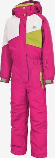 TRESPASS Skianzug 'WIPER' in hellgrün / pink / weiß, Produktansicht