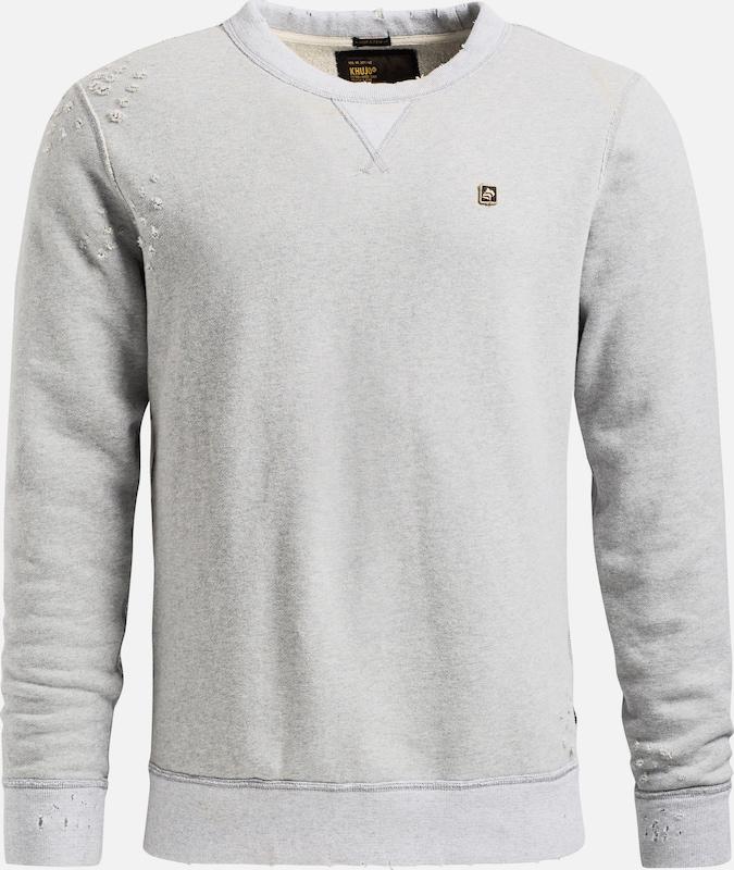 Khujo Sweatshirt 'PENDOR' in grau  Große Preissenkung