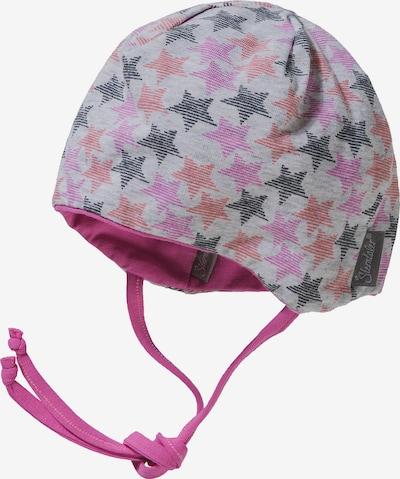 STERNTALER Mütze in grau / dunkelgrau / pink / melone, Produktansicht