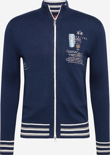 La Martina Sweatshirt 'Quibdo' in navy / hellblau / grau / weiß, Produktansicht