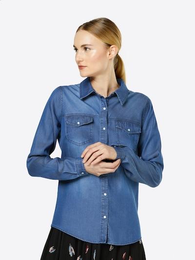 VILA Blouse 'VIBISTA' in de kleur Blauw, Modelweergave