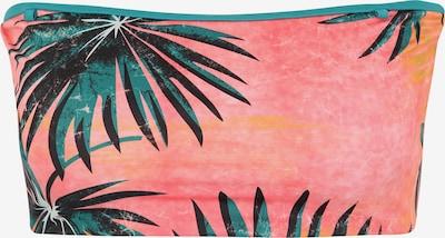 BILLABONG Športen bikini zgornji del 'palm daze tube top' | zelena / korala barva, Prikaz izdelka
