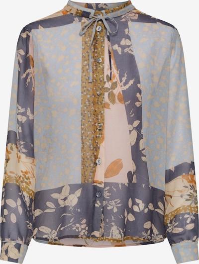 NÜMPH Bluse 'Numehri' in navy / dunkelgelb / rosa, Produktansicht