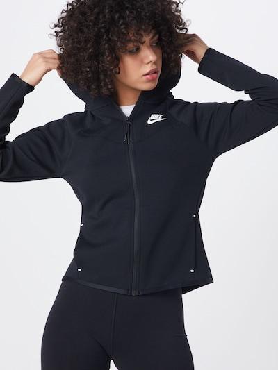 Nike Sportswear Sweatjacke in schwarz: Frontalansicht