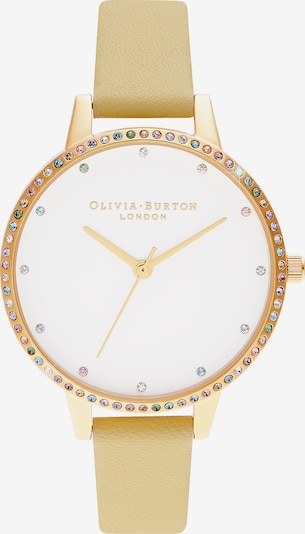 Olivia Burton Uhr in goldgelb / weiß, Produktansicht