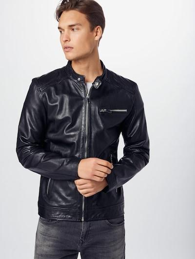 FREAKY NATION Lederjacke 'Lucky Jim' in schwarz, Modelansicht