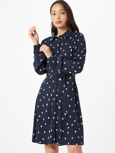 VILA Sukienka koszulowa 'Visuvita' w kolorze ciemny niebieski / białym: Widok z przodu