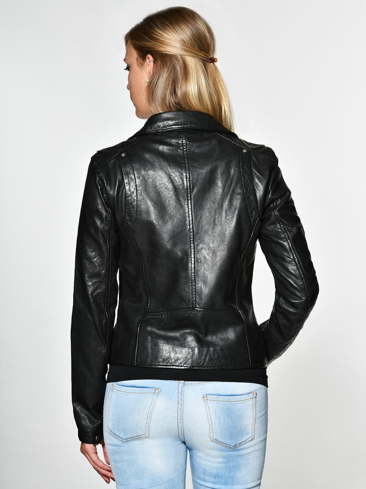 Beliebt Frauen Bekleidung Maze Lederjacke 'Indiana' in schwarz Zum Verkauf