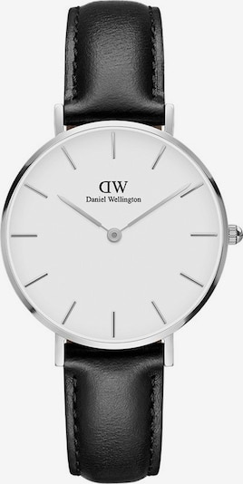 Daniel Wellington Uhr 'Sheffield' in schwarz / silber / weiß, Produktansicht
