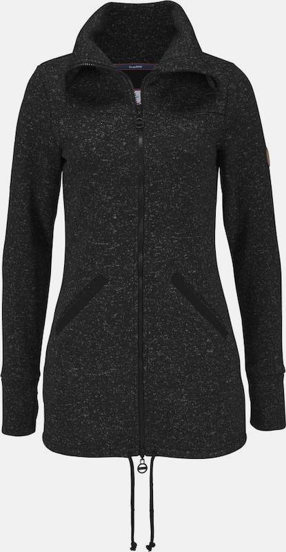 KangaROOS Sweatjacke in schwarz   schwarzmeliert  Markenkleidung für Männer und Frauen