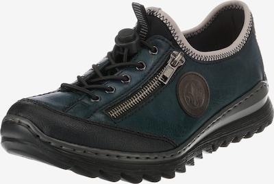 RIEKER Schnürschuh in dunkelgrau / petrol / schwarz, Produktansicht