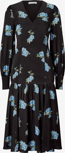 IVY & OAK Midi Kleid mit Blumenmuster in blau, Produktansicht