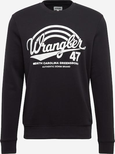 WRANGLER Sweatshirt 'LOGO CREW' in dunkelblau / weiß, Produktansicht