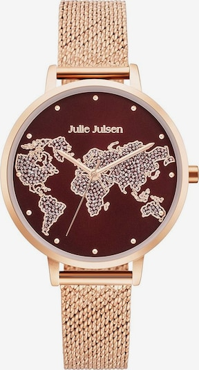Julie Julsen Quarzuhr 'World' in rosegold / purpur, Produktansicht