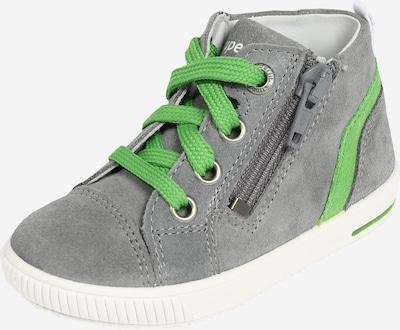 Pirmieji vaiko vaikščiojimo bateliai 'MOPPY' iš SUPERFIT , spalva - pilka / žalia, Prekių apžvalga