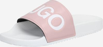 HUGO Muiltjes 'Time Out Slide' in de kleur Rosa / Wit, Productweergave