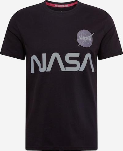 ALPHA INDUSTRIES Shirt ' NASA Reflective ' in schwarz, Produktansicht