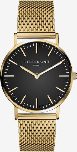 Liebeskind Berlin Analoog horloge 'New Case' in de kleur Goud / Zwart, Productweergave