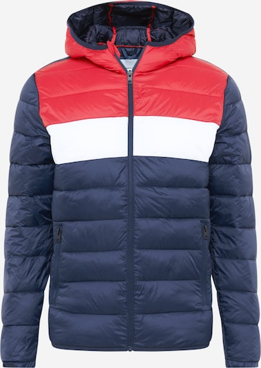 JACK & JONES Jacke 'MAGIC' in enzian / rot / weiß, Produktansicht
