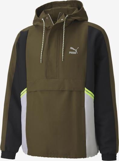 PUMA Sportjas in de kleur Kaki / Zwart / Wit, Productweergave