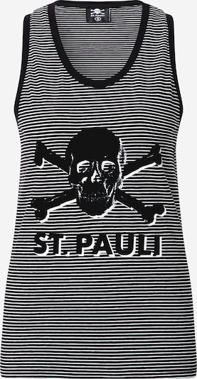 FC St. Pauli Sports top 'Terry' in black / white, Item view