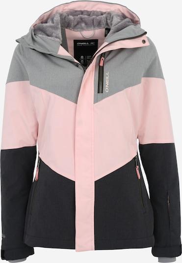 O'NEILL Sportjacke 'Coral' in grau / rosa / schwarz, Produktansicht