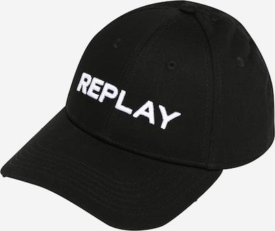 REPLAY Cap in schwarz / weiß, Produktansicht