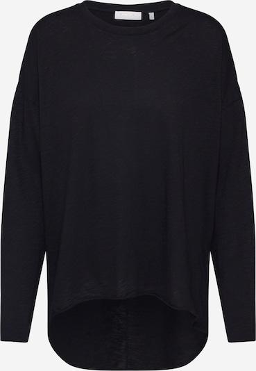 Rich & Royal Shirt 'Slub Oversize Longsleeve' in schwarz, Produktansicht