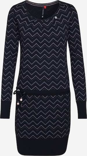 Ragwear Robe 'ALEXA ZIG ZAG' en noir, Vue avec produit