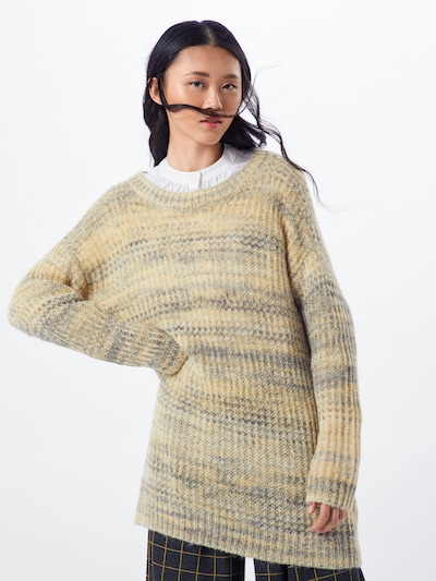 ESPRIT Pullover 'sweater long' in gelb / grün, Modelansicht